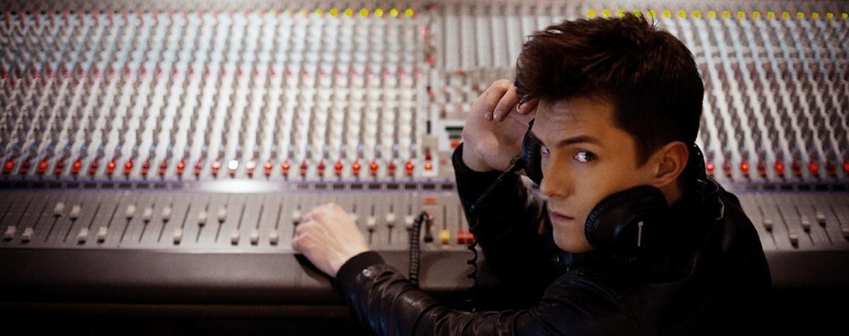 Tadeusz Gauer w studiu nagrań